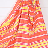 Vintage 1960s Wind Break - Coral Pink, Red, Yellow & Yellow Stripe Design detail2