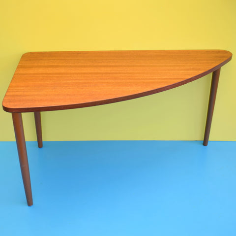 Vintage 1960s Handy Triangular Coffee / Side Table - Teak