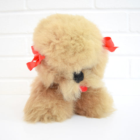 Vintage 1950s Musical, Moving Poodle Toy - Lullaby, Brown