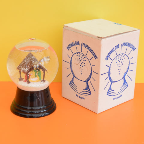 Vintage 1950s Austrian Snow Globe Paperweight - Glass, Boxed