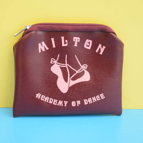 Vintage 1970s Vinyl Children's Milton Academy Of Dance Purse