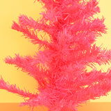 Retro Small Tinsel Christmas Tree - Pink