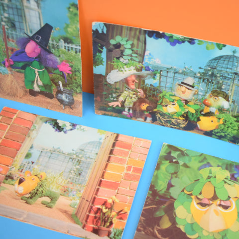 Vintage 1970s Postcards 'The Herbs' Or 'Trumpton' - Ideal For Framing x5