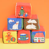 Vintage 1960s Rare Galt Soft Fabric Blocks - Gorgeous Pictures