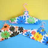 Vintage 1960s Inflatable Clothes Hangers - Flower Power Vinyl - Unused