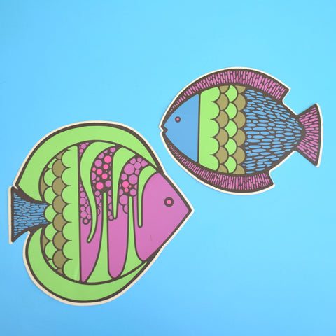 Vintage 1970s Stickers - Rickie Tickie - Fish Design