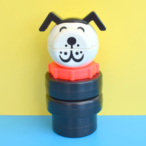 Vintage 1970s Rare Giant Stacking Lucky The Dog  - Fisher Price