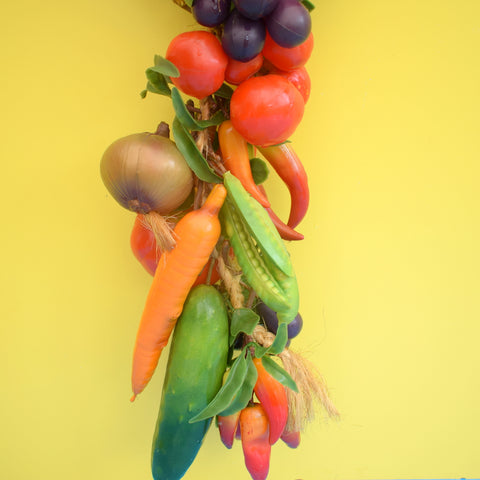 Vintage 1960s Kitsch String Of Faux Vegetables
