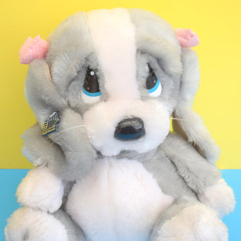 Vintage 1980s Sad Sam Honey Dog - Fluffy Toy - Large