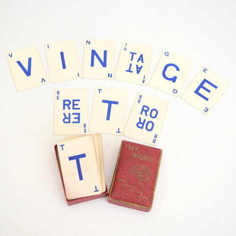 Vintage 1950s Card Game - My Word - Anagrams - Names