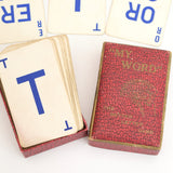 Vintage 1950s Card Game - My Word - Anagrams - Names box