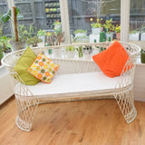 RESERVED FOR CAROLE Vintage Fibreglass Strand Bench  Or Set - Russell Woodard - White
