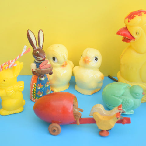 Vintage 1950s Kitsch Easter Bits - Bunnies And Chics