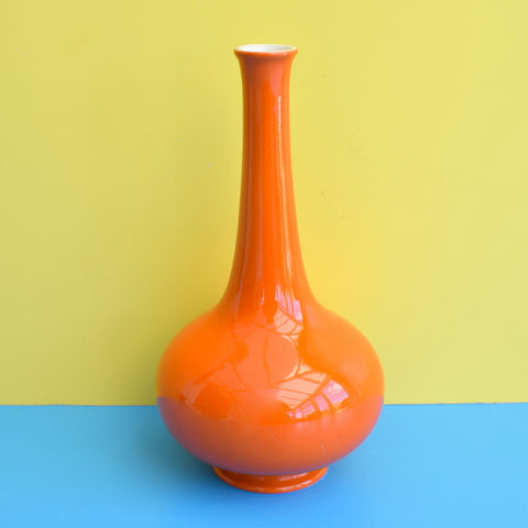 Vintage Carlton Ware Ceramic Bud Vase - Orange