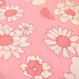 Vintage 1960s Duvet Covers / Fabric - M&S Flower Power - Pink Or Blue