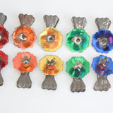 Vintage Tree Candle Clips 1960s Christmas Decorations x12 detail