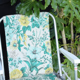 Vintage 1970s Folding Garden Chair - Flower Power - Green & Yellow