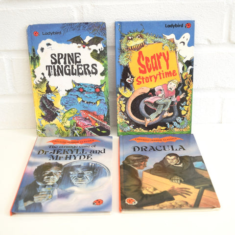 Vintage Ladybird Books - Spine tinglers, Scary Stories, Jekyll & Hyde, Dracula