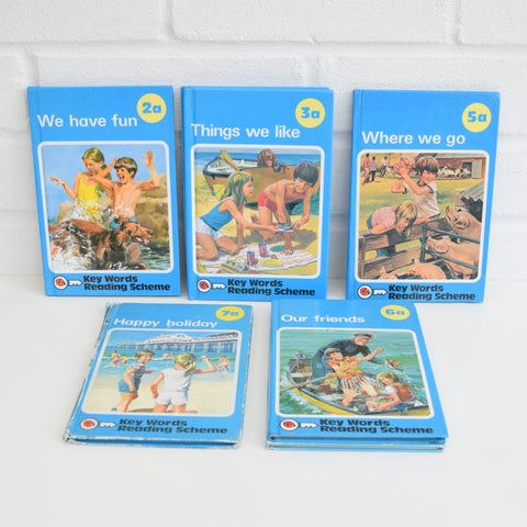 Vintage Ladybird Books - BLUE Key Word Reading Scheme
