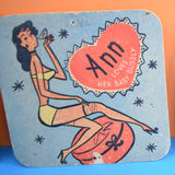 Vintage 1950s Baby Bubbly Beer Mats / Drinks Mats / Coasters - Ann, Jane & Vicki