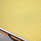 Vintage 1950s Formica Table - Fantastic Printed Formica - Ideal Desk, Yellow / Black & Chair
