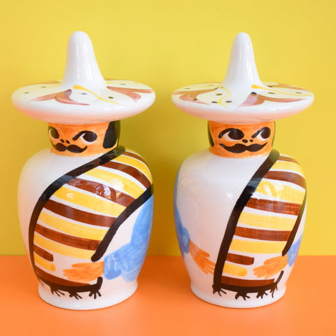 Vintage 1960s Toni Raymond - Ceramic - Mexican Salt / Pepper Set