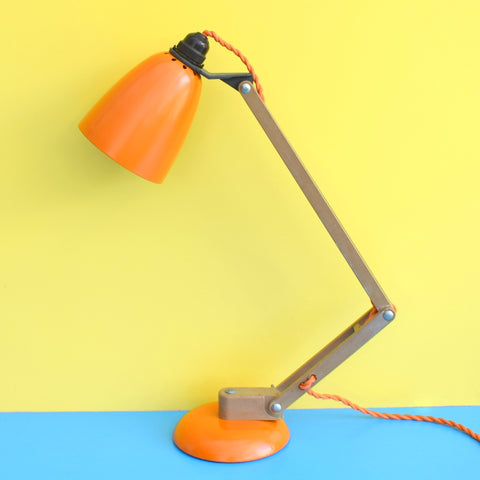 Vintage 1970s Mac Lamp - Desk Lamp - Conran - Orange