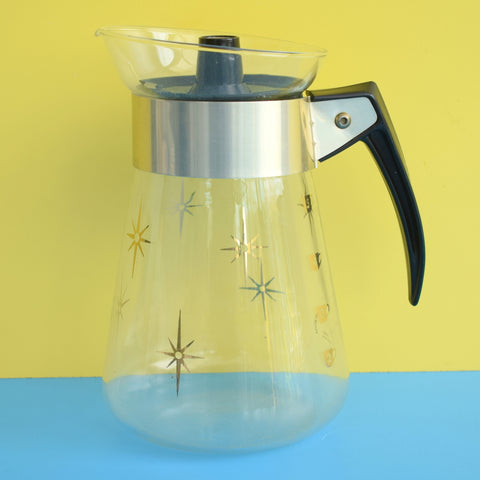Vintage 1960sMaxwell House Coffee Maker - Pyrex - Gold Stars