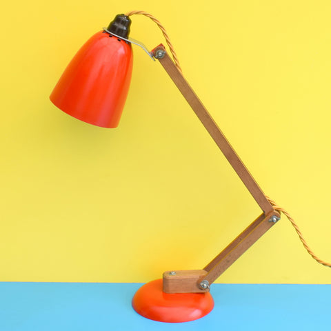 Vintage 1960s Mac Lamp - Desk Lamp - Conran - Red