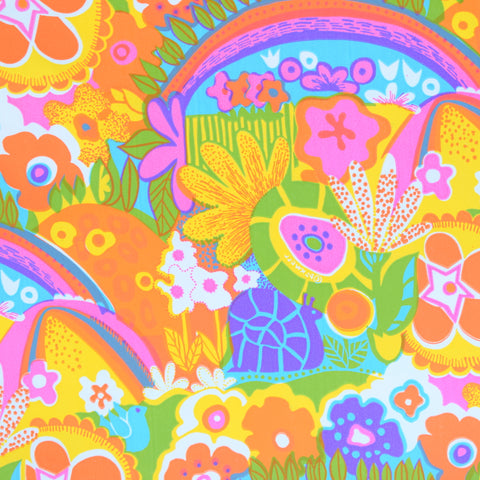 Vintage 1960s American Gift Wrap Paper - Psychedelic Snails