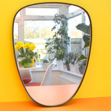 Vintage 1960s Egg Shaped Wall Mirror - Lovely Classic Organic Shape