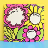 Vintage 1970s American Party Invitations - Flower Power - Multiples