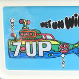 Vintage 1960s American 7 UP Transfer - Wet Un Wild Submarine - Framed