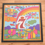 Vintage 1960s Rare American 7UP / Seagrams Framed Scarf - Peter Maxx