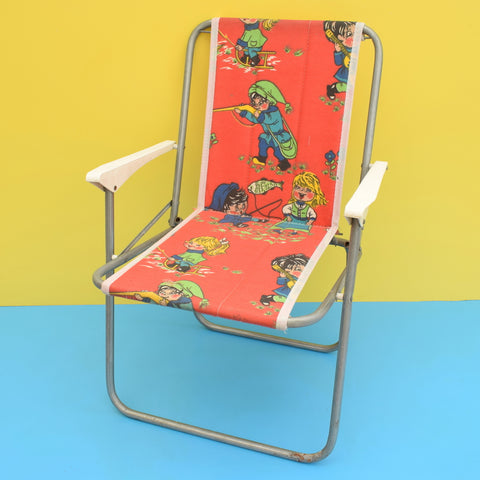 Vintage 1970s Folding Childs Garden Chair -  Red