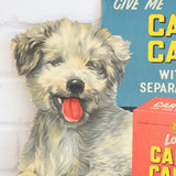 Vintage 1950s Kitsch Cardboard Dog Food Advert - Carta Carna