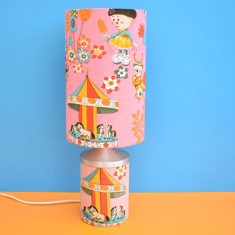 Vintage 1970s Magic Roundabout Table Lamp & Shade - Very Unusual