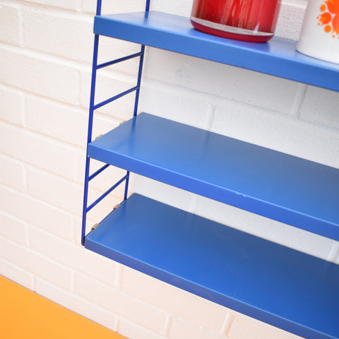 Retro Dutch String Shelves / Unit - Bright Blue