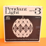 Vintage 1970s Light Fitting / Shade - Made In Denmark - White (Boxed)