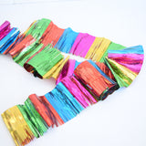 Vintage 1970s Christmas Garland Fringe / Spiral Decoration - Tinsel Style Rainbow Coloured