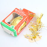 Vintage 1970s Christmas Garland Fringe / Spiral Decoration - Tinsel Style Gold Coloured