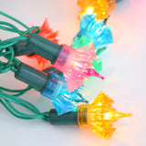 Vintage 1960s Festive String Lights - Spiked Plastic Covers