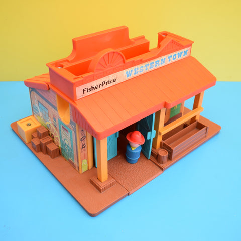 Vintage 1980s Fisher Price - Western Town - Classic Toy