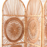 Vintage 1970s Wicker & Bamboo Screen / Room Divider - Natural