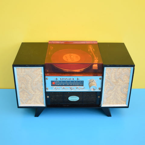 Vintage 1960s Miniature Record Player Jewellery Box  - Musical