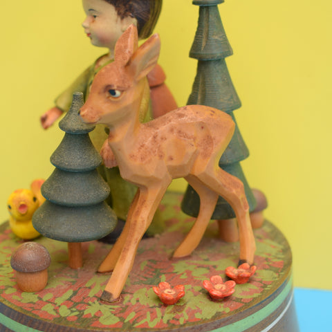 Vintage 1950s Musical Ornament - Bambi & Toadstool - Moulin Rouge
