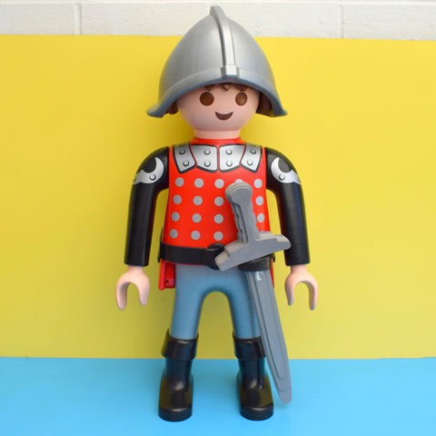 Retro, Kitsch Large Playmobil Figure - Knight With Sword