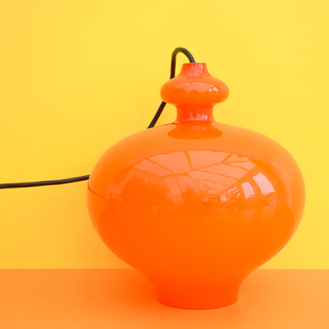 Vintage 1960s Large Glass Light Fitting - Hans Agne Jakobsson - Sweden - Orange