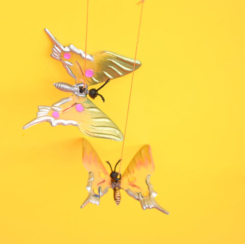 Vintage 1970s Butterfly Plastic Mobile - Boxed