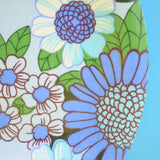 Vintage 1960s Small Flower Power Thetford Tray - Blue .
